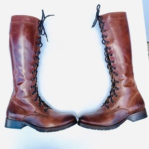 Frye Melissa Tall Lace Up Combat Boots 9.5
